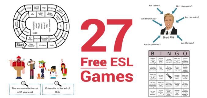 27 free esl games