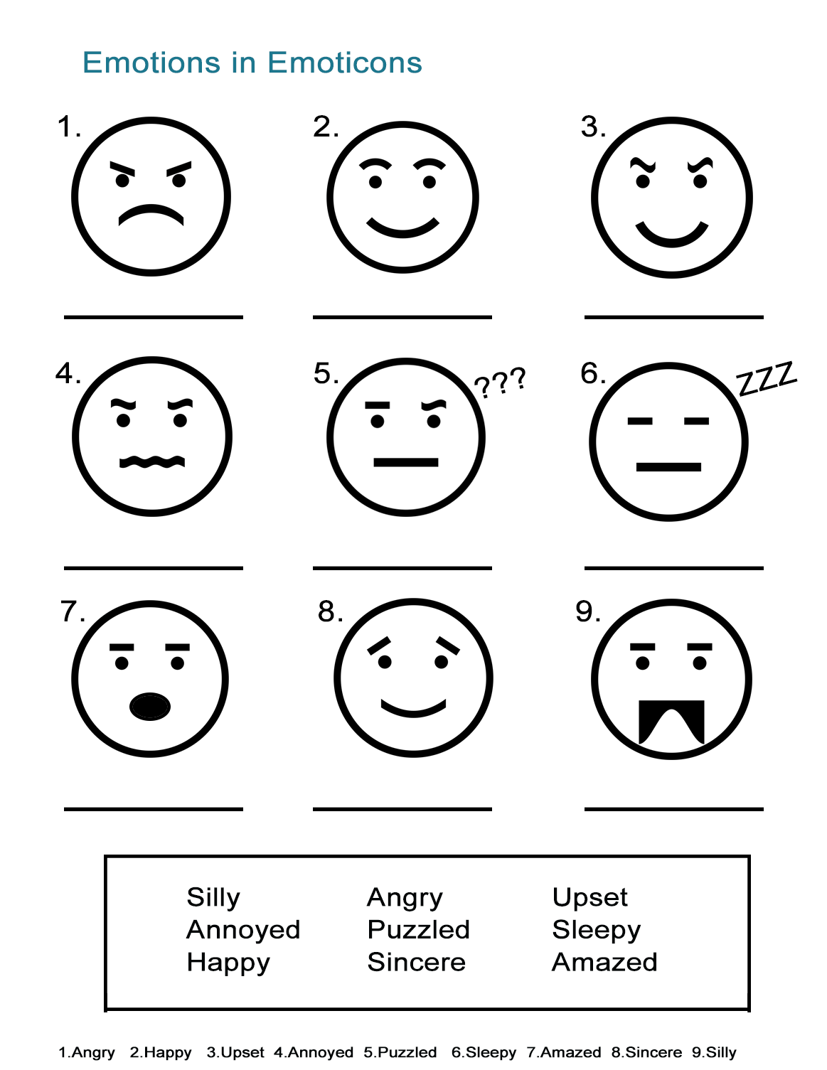 Feelings worksheets pdf