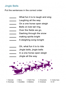 13 Jingle Bells Song Order