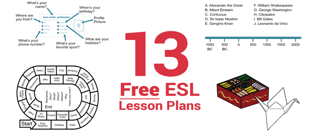 13 free esl lesson plans