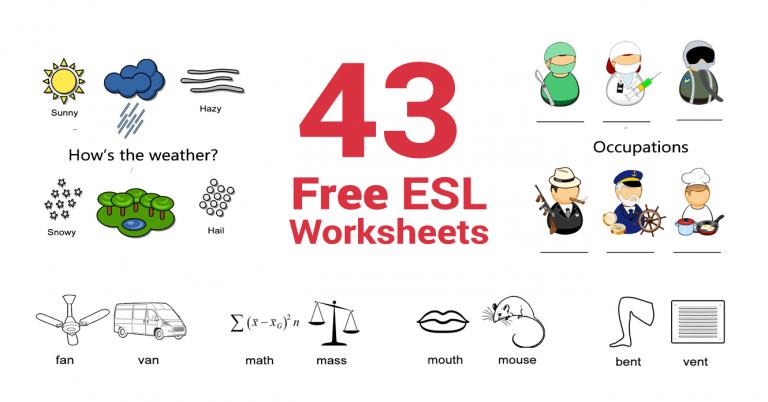 43 Free ESL Worksheets for English Teachers [2021]