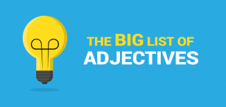 list of adjectives examples