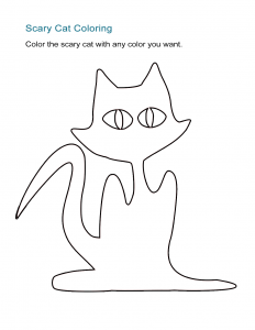 Scary Cat Coloring Sheet