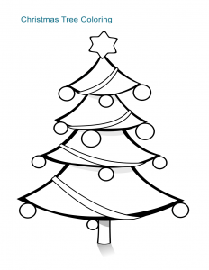 Christmas Tree Coloring Sheet