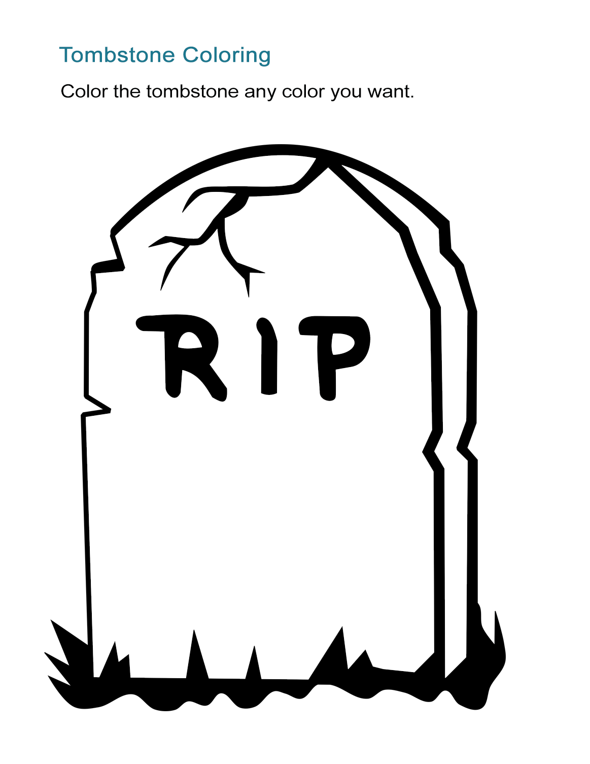 magnificent tombstone coloring page embellishment