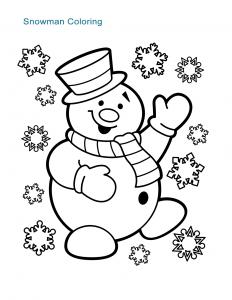 Snowman Coloring Sheet