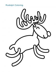 Rudolph Coloring Sheet