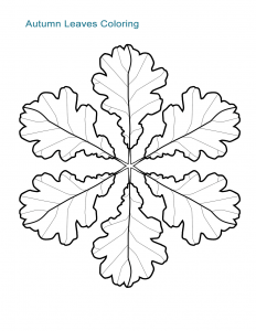 Autumn Leaves Coloring Sheet