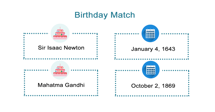 Birthday Match Game Worksheet