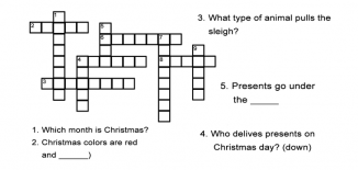 Christmas Crossword Puzzle Worksheet