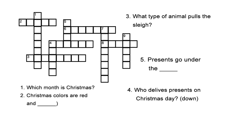 photograph relating to Printable Christmas Crossword Puzzles for Adults With Answers known as Xmas Crossword Puzzle: Find Xmas Terms inside this