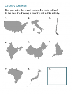 Country Outlines Game