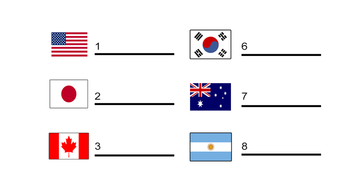Flag Worksheet: Can You Identify the Country Flag?