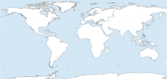 picture relating to Printable World Map known as 7 Printable Blank Maps for Coloring Functions inside of Your