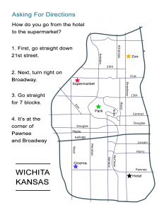 Asking for Directions Map in Wichita, Kansas