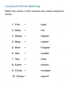 Compound Words for Kids - The Matching Game