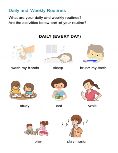 Daily Routines Present Verb Tense
