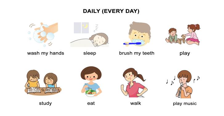 Daily Routines Worksheet – Present Verb Tense