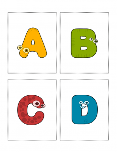 image regarding Alphabet Cards Printable known as Pleasurable Cash Letters Animal Alphabet Flashcards: Towards A towards Z