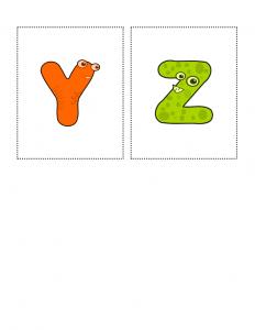 Flashcards Printables Y to Z