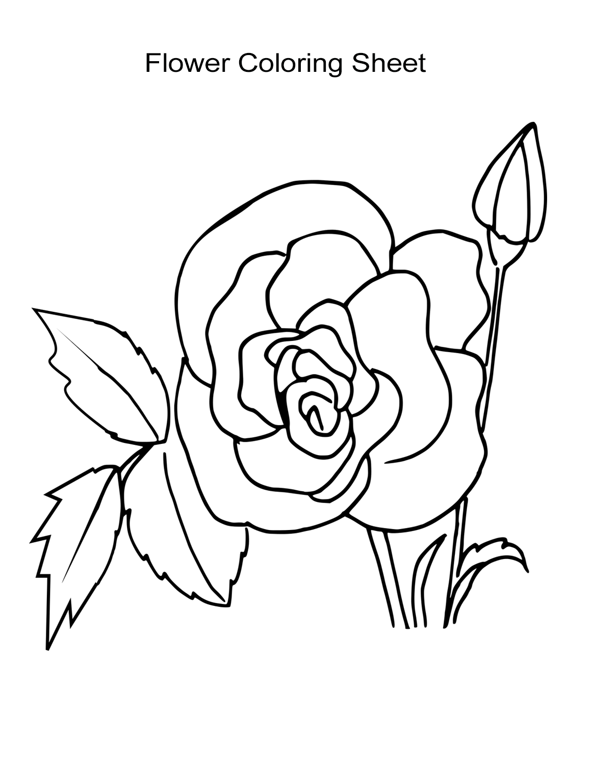 10 Flower Coloring Sheets for Girls