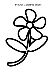 Very Simple Flower Coloring Sheet