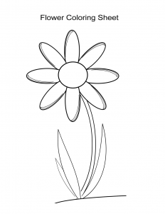 Flower Coloring Sheet 4