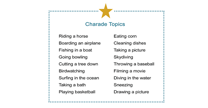 Group Charades Ideas: How to Play Charades with a Large