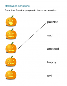 Halloween Adjectives and Emotions