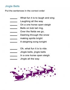 Jingle Bells for Kids Song Order