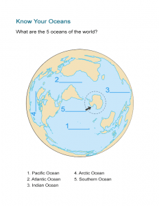 Know Your Oceans Worksheet
