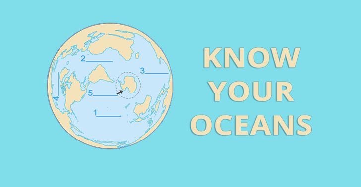 Know Your Oceans Worksheet: Can You Find the 5 Oceans of the World?