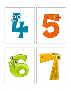 image regarding Printable Numbers Flashcards named Free of charge Animal Selection Flashcards: Versus 1 in direction of 10 - All ESL