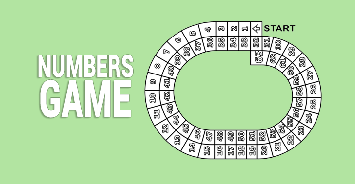 Numbers Board Game: Practice Counting in this Kids Worksheet