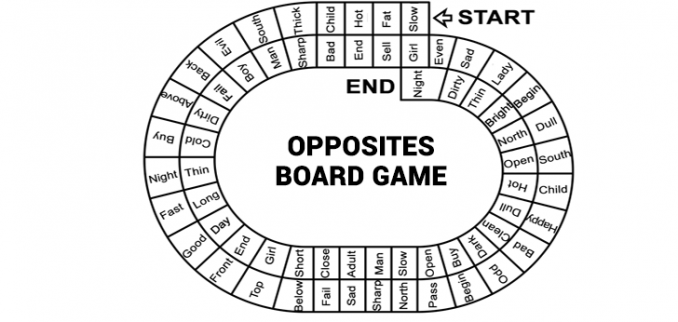 Opposites Game Board