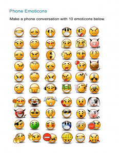 Phone Emoticons Emotions