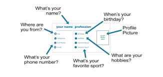 Student Business Cards Introductions