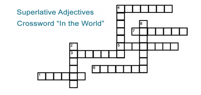 Superlative Adjectives Crossword Puzzle