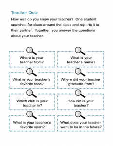 Teacher Quiz - Do you know your teacher?