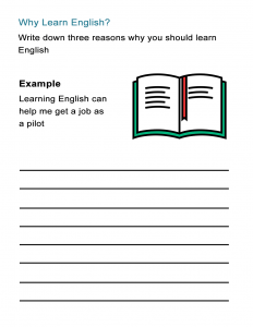 Why Learn English Free Worksheet