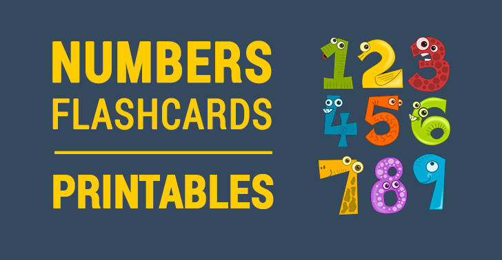 animal number flashcards printables