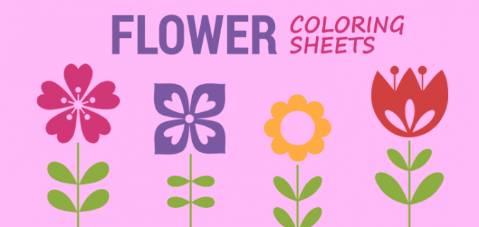 10 Flower Coloring Sheets For Girls And Boys - ALL ESL