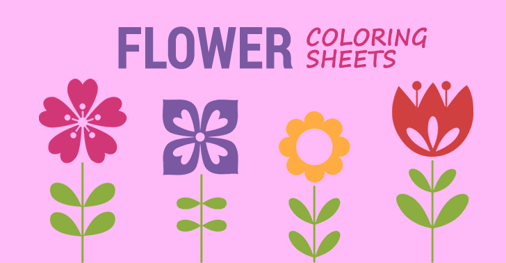 - 10 Flower Coloring Sheets For Girls And Boys - ALL ESL