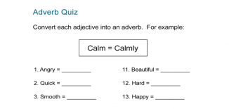Adverb Quiz