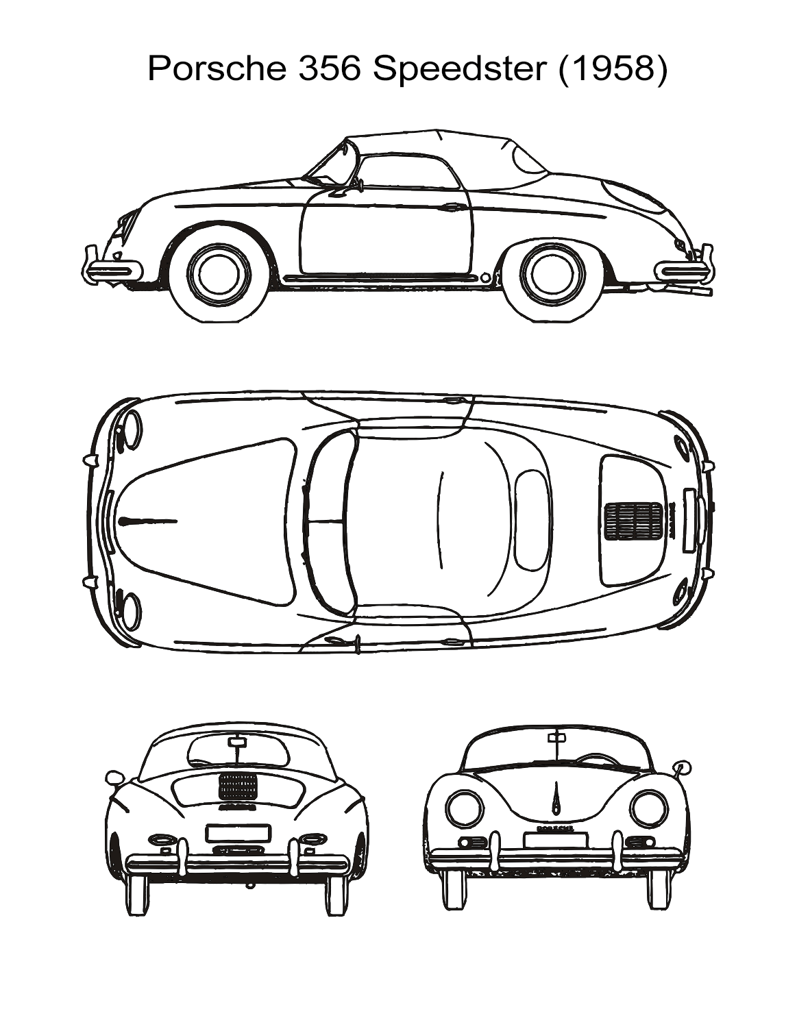 10 Car Coloring Sheets: Sports, Muscle, Racing Cars and More - All ESL