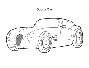 Cars Coloring Sheet