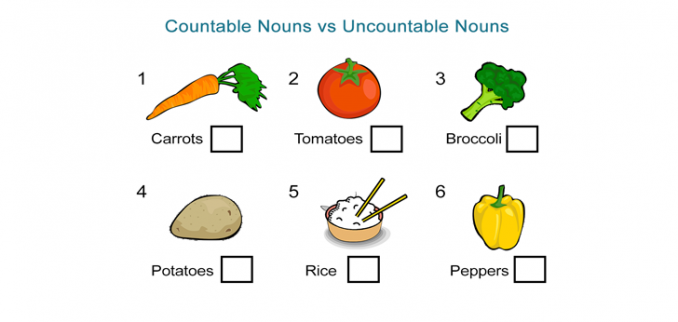 Countable Nouns Uncountable Nouns
