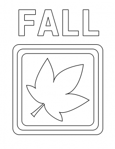 Fall Text Leaf