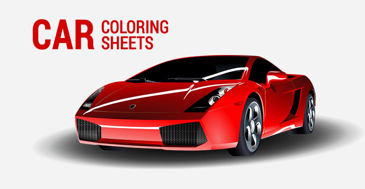 10 Car Coloring Sheets: Sports, Muscle, Racing Cars and ...