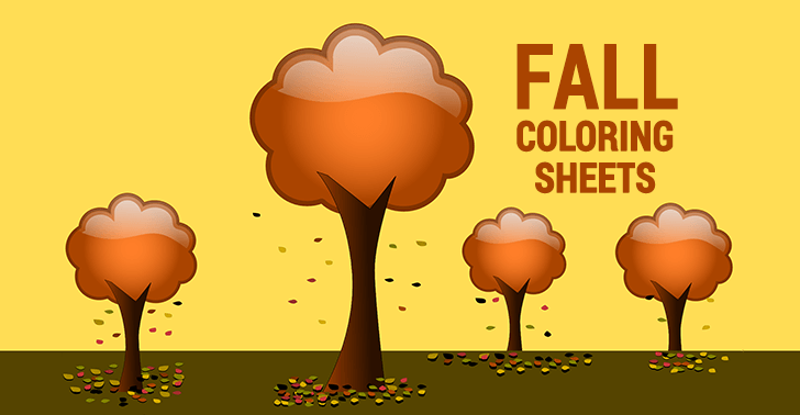 5 Free Fall Coloring Sheets: Autumn Season Coloring Pages